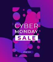 Cyber monday sale banner for social media vector