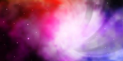 Dark Pink, Yellow vector background with small and big stars.