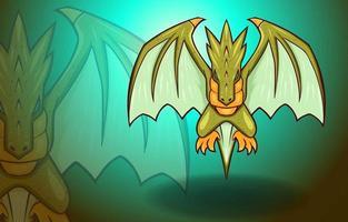Flying Dragon Wings Fantasy Mythology Monster Legend Creature vector