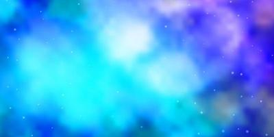 Light Pink, Blue vector background with colorful stars.