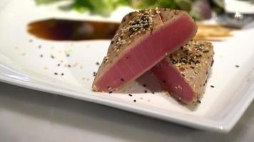 gegrilltes Thunfischsteak video
