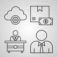 Simple Set of Miscellany Business Vector Line Icons