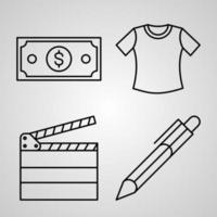 Set of Vector Line Icons of Organization