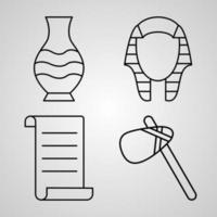 Simple Set of Museum Vector Line Icons