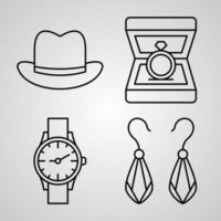 Handcrafts Line Icons Set Isolated On White Outline Symbols Handcrafts vector