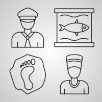 Museum Symbol Collection On White background Museum Outline Icons vector