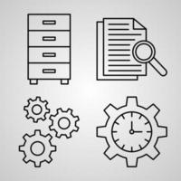 Organization Symbol Collection On Organization Outline Icons vector