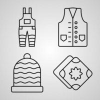 Set of Handcrafts Icons Isolated on White Background vector