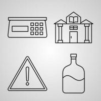 Set of Chemistry Icons Isolated on White Background vector