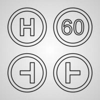 Set of Road Signs Icons Isolated on White Background vector