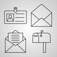 Contact Us Icon Set Vector illustration EPS