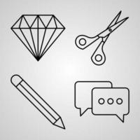 Organization Line Icon Set Collection of in Trendy Outline Style vector