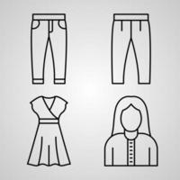 Handcrafts Line Icon Set Collection of in Trendy Outline Style vector