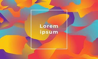 Abstract geometric background with liquid shapes color gradient vector