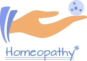 Homeopathic granule. Alternative medicine vector