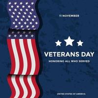 simple veterans day concept design vector. 11 november, honoring all who served vector