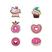 Donut Vector icon design illustration