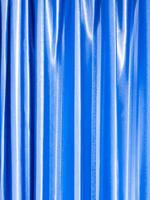 Bright and shiny blue color of curtain photo