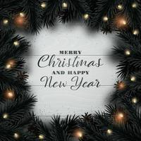 Merry Christmas and Happy New Year design background. vector