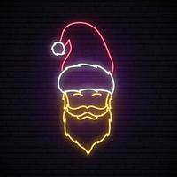 Santa Claus with ginger beard wearing red hat vector