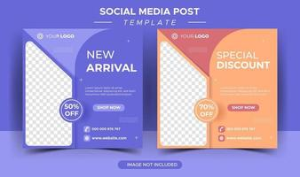 social media template post arrival vector