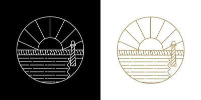 Nature landscape line logo.vector logo vector