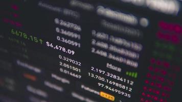 graphique changeant de crypto video