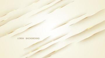 Beige abstract with shiny golden lines for background vector