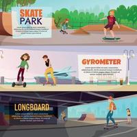 Skateboarding Horizontal Banners vector