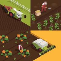 Harvesting Isometric Concept vector
