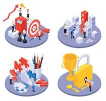 Personal Growth Isometric Concept vector
