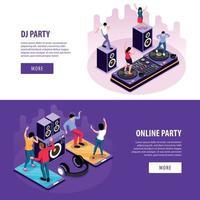 Online DJ Party Banners vector