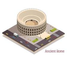 Ancient Rome Isometric Composition vector