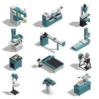 conjunto de máquinas para trabajar metales vector