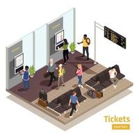 People Interfaces Isometric Composition vector