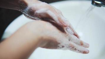 Washing hand with water video