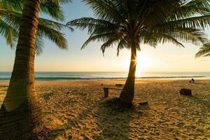 Beach autumn vacations concept background photo