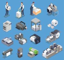 Printing House Icons Collection vector
