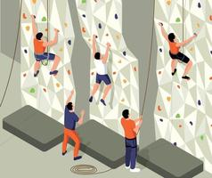 Isometric Climb Training Composition vector