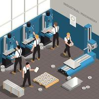Metalworking Manufacturing Isometric Composition vector