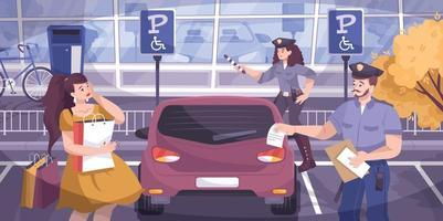 Traffic Police Background Illustration vector