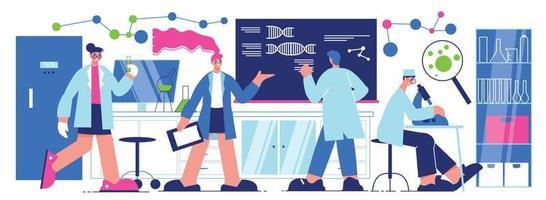 Science Laboratory Horizontal Illustration vector