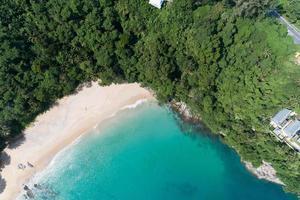 vista de ángulo alto, mar tropical foto