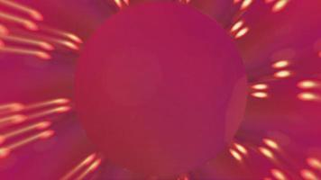 Abstract romantic red background with glowing hearts video