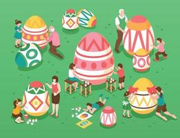 Easter Isometric Illustration vector
