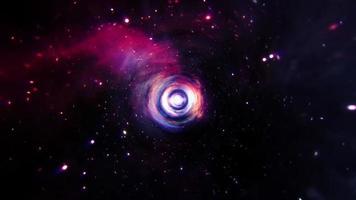 asso viola blu rosso tunnel iperspaziale spazio tempo video