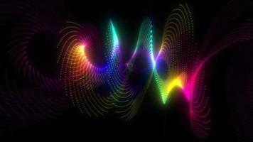 geometria multicolore bagliore scuro arcobaleno punti movimento senza soluzione di continuità video