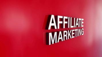 digital marknadsföringskoncept animationseffekt på röd bakgrund video