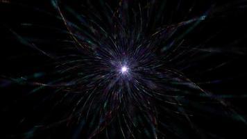 energía estrella flor parpadeo color claro tecnología de partículas futuristas de alta tecnología video