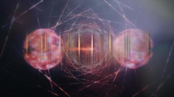 Quantum Technology cinematic title background with digital Sci-Fi video